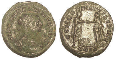 Aureliano de Aureliano. CONCORDIA MILITVM. Siscia Aurelian%20Siscia%20RIC%20244%20XXIS-RI1117